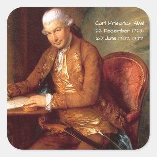 Karl Friedrich Abel Quadratischer Aufkleber