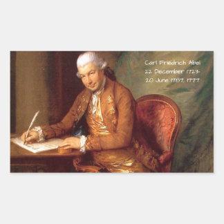 Karl Friedrich Abel Rechteckiger Aufkleber