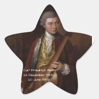 Karl Friedrich Abel Stern-Aufkleber