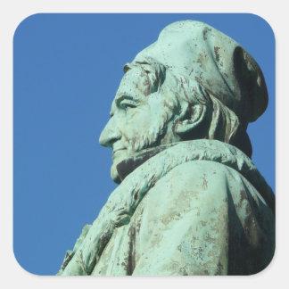 Karl Friedrich Gauß (Gauß) 1,2, Braunschweig Quadratischer Aufkleber