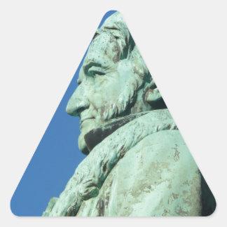 Karl Friedrich Gauß (Gauß), Braunschweig Dreieckiger Aufkleber