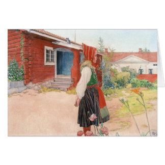 Karl Larsson das Falun Zuhause Grußkarte