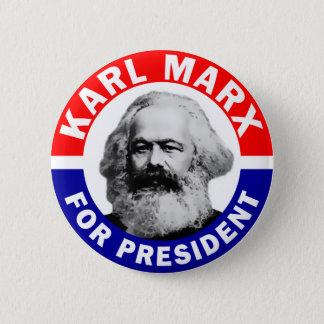 Karl Marx für Präsidenten Runder Button 5,1 Cm