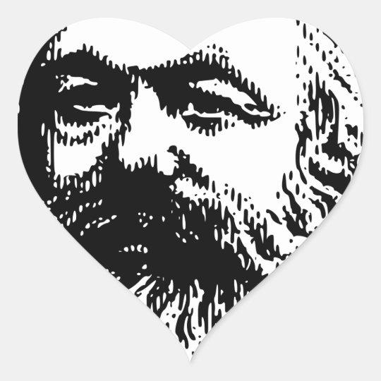 Karl Marx - Kommunismus Herz-Aufkleber