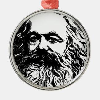 Karl Marx - Kommunismus Silbernes Ornament