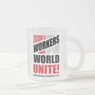 Karl- Marxarbeitskräfte der Welt vereinigen Mattglastasse