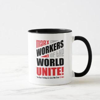 Karl- Marxarbeitskräfte der Welt vereinigen Tasse