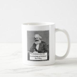 """Karl- MarxTasse: """"Revolutionen """" Kaffeetasse"""