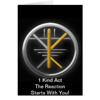 Karma-Bewegung - positives Karma ist ein Karte