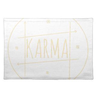 Karma (für dunklen Hintergrund) Stofftischset