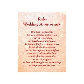 Karminrote Hochzeits-Jahrestags-Leinwand Leinwanddrucke
