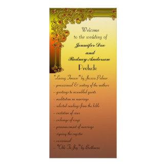 Karminrote Hochzeits-Programm-Gestell-Karte Werbekarte
