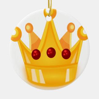 Karminrote Krone Keramik Ornament
