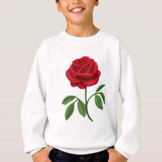 Karminrote Rote Rose Sweatshirt