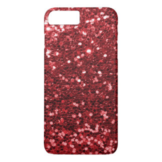 Karminroter roter Imitat-Glitter-Schein-Druck iPhone 8 Plus/7 Plus Hülle
