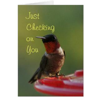 Karminroter Throated Kolibri - fertigen Sie Karte