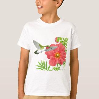 Karminroter Throated Kolibri scherzt T - Shirt
