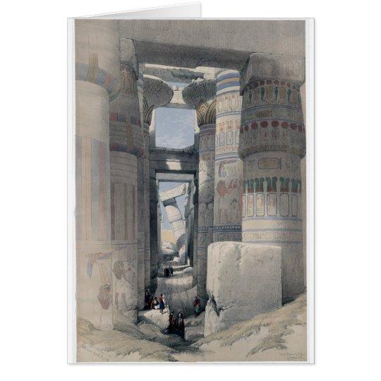 Karnak - Dromos oder erstes Gericht des Tempels Grußkarte