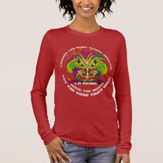Karneval, den alle Art-Frauen-dunklen Langärmeliges T-Shirt