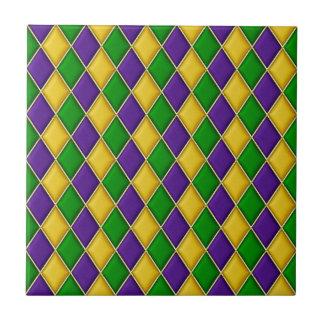Karneval-Harlekin-Diamant-Muster-Fliesen Kleine Quadratische Fliese