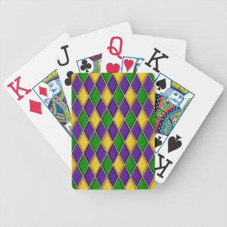 Karneval-Harlekin-Diamant-Muster Poker Karten