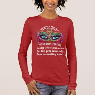 Karneval-Königin 5 gelesen über Entwurf unten Langärmeliges T-Shirt