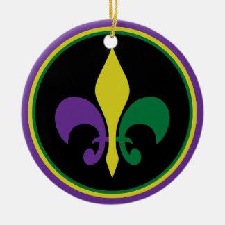 Karneval ~ Lilie Keramik Ornament