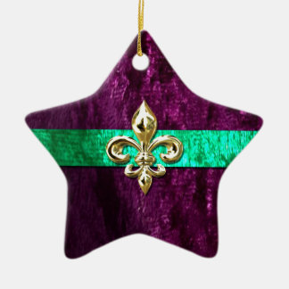 Karneval-Lilie New Orleans Keramik Stern-Ornament
