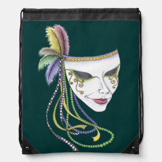 Karneval-Maskedrawstring-Rucksack Turnbeutel