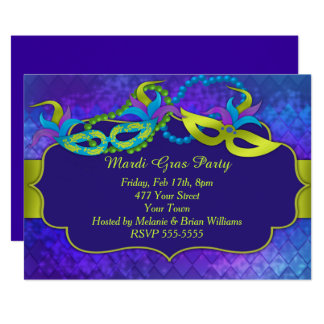 Karneval-Party 12,7 X 17,8 Cm Einladungskarte