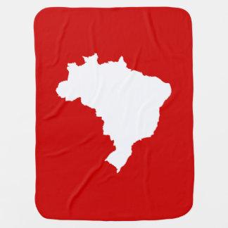 Karneval roter Leite festliches Brasilien bei Kinderwagendecke