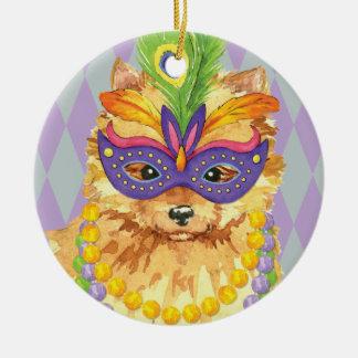 Karneval-Spitz Keramik Ornament