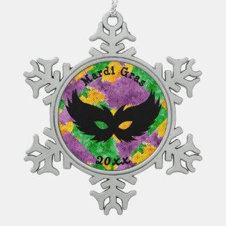 Karneval-Tarnungs-Maske Schneeflocken Zinn-Ornament