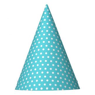 Karnevals-Aqua-Rückseiten-kleine weiße Punkte Partyhütchen