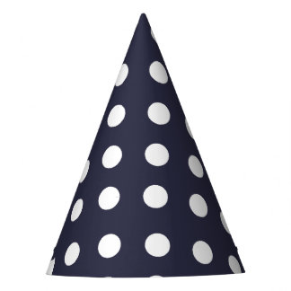 Karnevals-Blau-Rückseiten-großes Weiß punktiert Partyhütchen