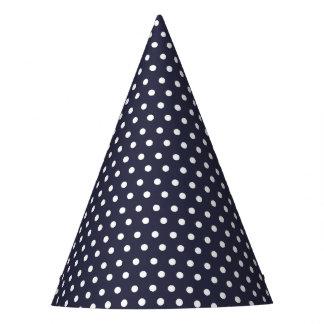 Karnevals-Blau-Rückseiten-kleines Weiß punktiert Partyhütchen