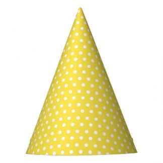 Karnevals-Gelb-Rückseiten-kleiner weißer Partyhütchen