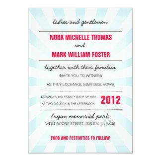 Karnevals-Hochzeits-Einladung Karte