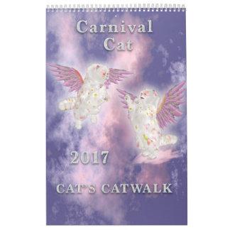 Karnevals-Katzen-Single-Seite 2017 Abreißkalender
