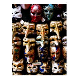 Karnevals-Masken Postkarte