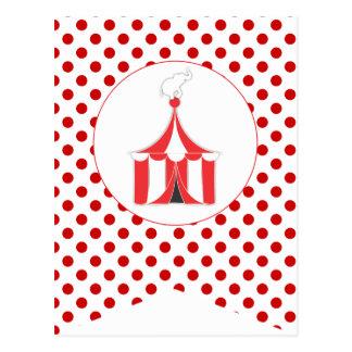 Karnevals-rote Postkarte