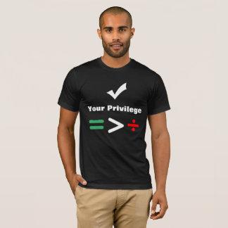 Karo Ihr gleiches größeres des Privileg-  als T-Shirt