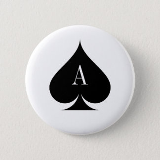 Karoass Pokerknopf Runder Button 5,1 Cm
