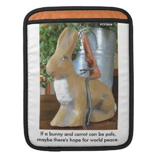 Karotte u. Kaninchen = Frieden für die Welt? Sleeve Für iPads