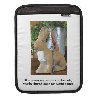 Karotte u. Kaninchen = Frieden für die Welt? Sleeves Für iPads