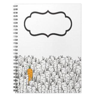 Karotten-Notizbuch Spiral Notizblock
