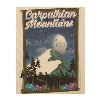 Karpatengebirgsreiseplakat Holzdruck