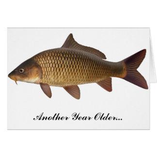 Karpfen-Fischen-Geburtstags-Karte Karte