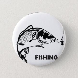 Karpfenfischen-Abzeichen Runder Button 5,7 Cm