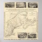 Karte Boston und Maine-Eisenbahn Poster